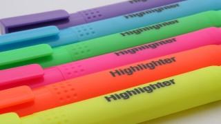 蛍光ペンみたいなマーカーがオシャレかつ見やすい。